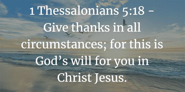 1 Thessalonians 5:18 Verse