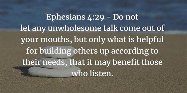Ephesians 4:29 Bible Verse