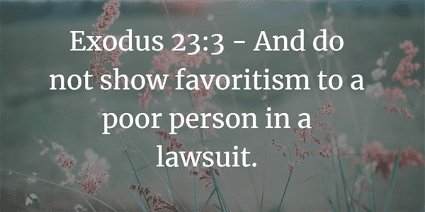 Exodus 23:3 Bible Verse