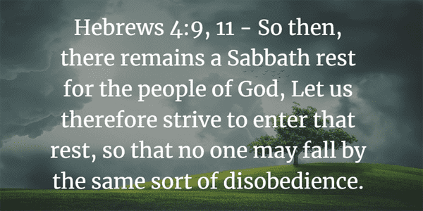 Hebrews 4:9-11 Bible Verse