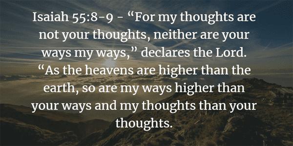Isaiah 55:8-9 Bible Verse