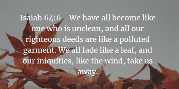 Isaiah 64:6 Bible Verse