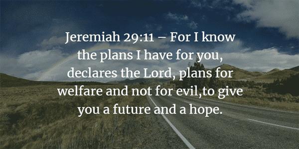 Jeremiah 29:11 Bible Verse