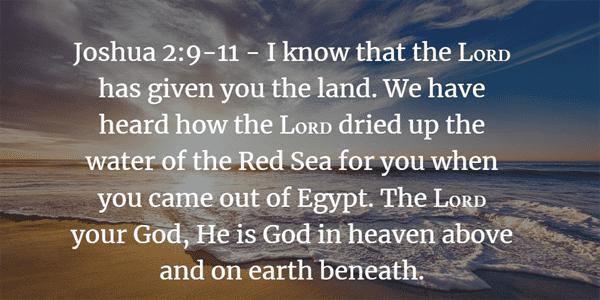Joshua 2:9-11 Bible Verse