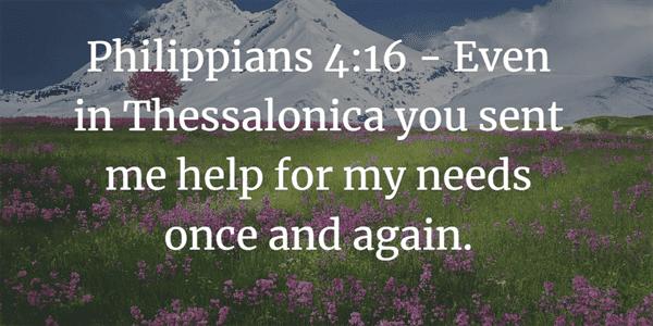 Philippians 4:16 Bible Verse