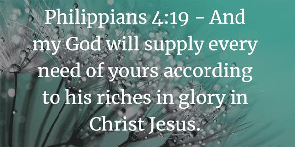 Philippians 4:19 Bible Verse