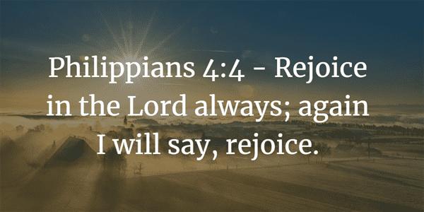 Philippians 4:4 Bible Verse