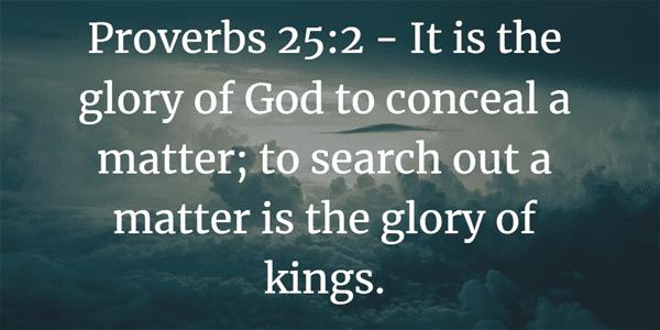 Proverbs 25:2 Bible Verse