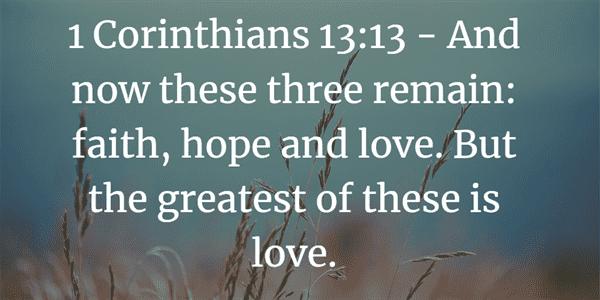 1 Corinthians 13:13 Bible Verse