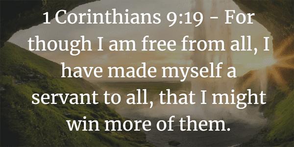 1 Corinthians 9:19 Bible Verse