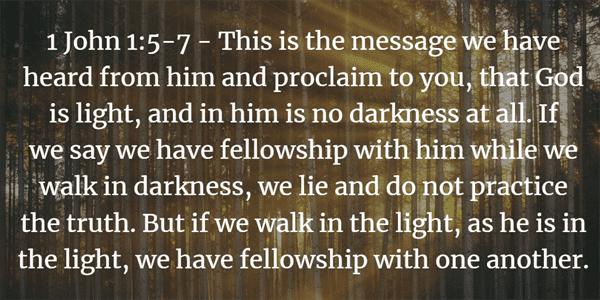 1 John 1:5-7 Bible Verse