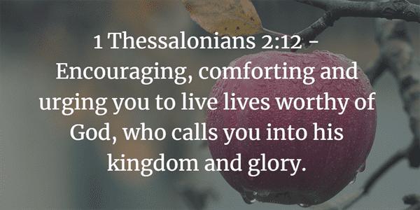 1 Thessalonians 2:12 Bible Verse