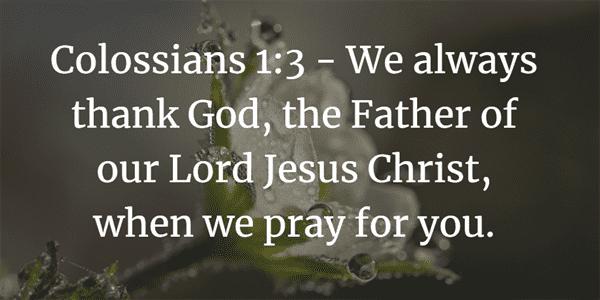 Colossians 1:3 Bible Verse