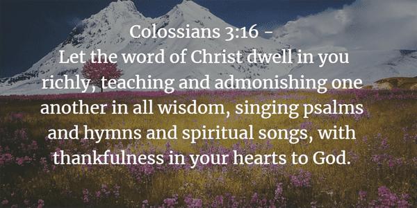 Colossians 3:16 Bible Verse