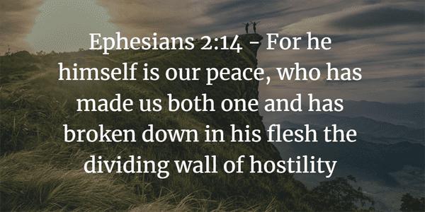 Ephesians 2:14 Bible Verse