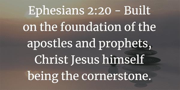 Ephesians 2:20 Bible Verse