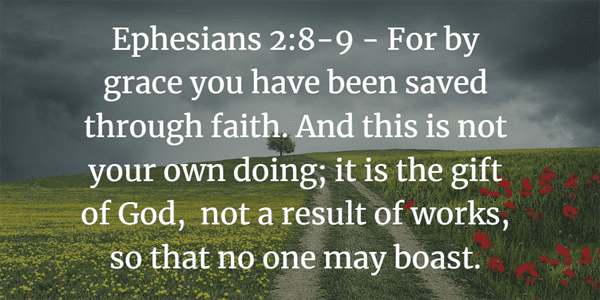 Ephesians 2:8-9 Bible Verse