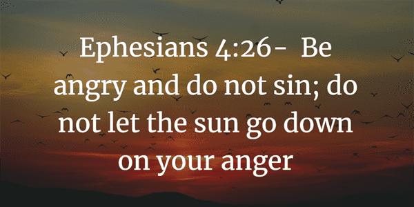 Ephesians 4:26 Bible Verse