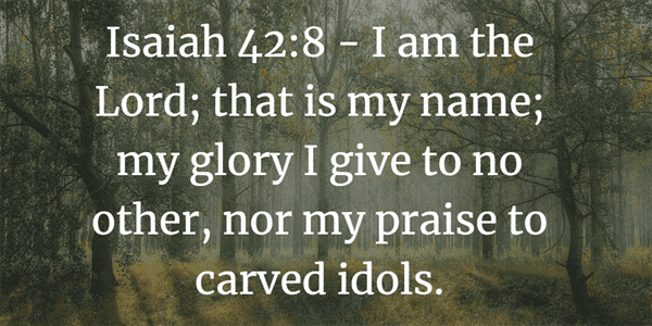 Isaiah 42:8 Bible Verse
