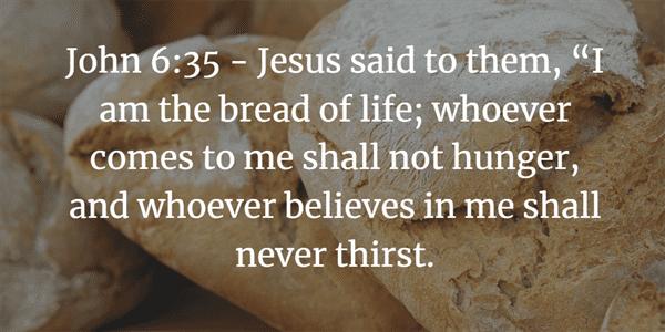 John 6:35 Bible Verse