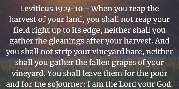 Leviticus 19:9-10 Bible Verse