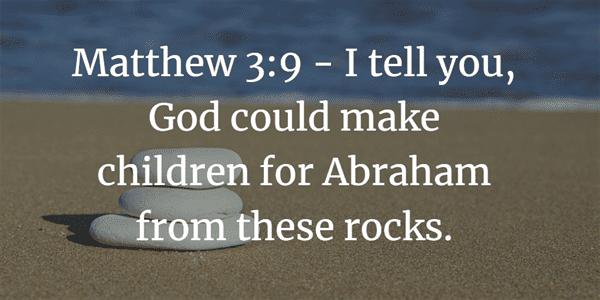 Matthew 3:9 Bible Verse