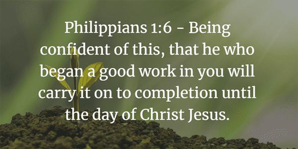 Philippians 1:6 Bible Verse