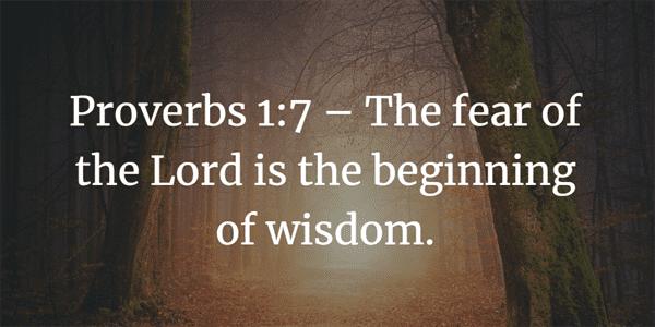 Proverbs 1:7 Bible Verse