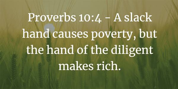 Proverbs 10:4 Bible Verse
