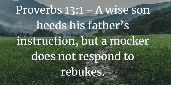 Proverbs 13:1 Bible Verse