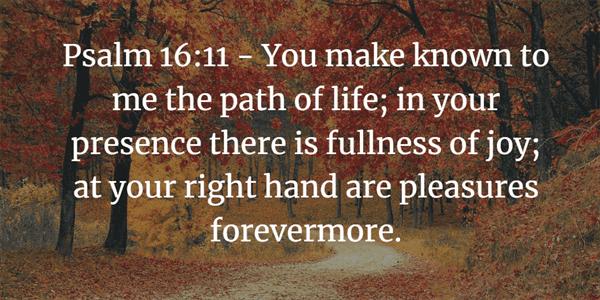 Psalm 16:11 Bible Verse