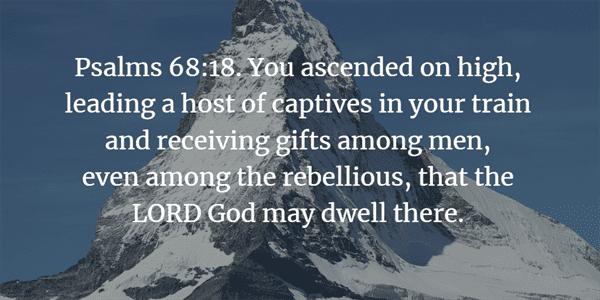 Psalm 68:18 Bible Verse